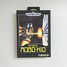 Game Card Atomic Robo Kid - USA Cover With Retail Box 16 Bit MD Game Card for Sega Megadrive Genesis Video Game Console