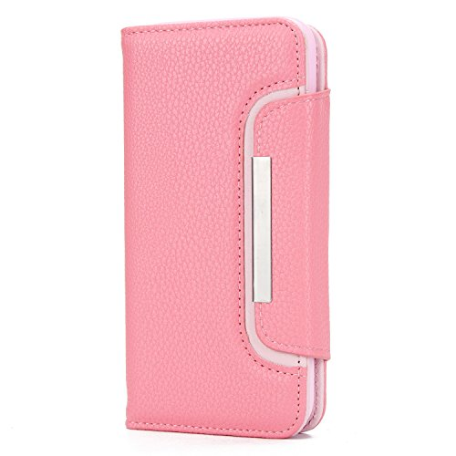 HARRMS telefoonhoesje met portemonnee, compatibel met iPhone X, iPhone XS met creditcardvak, geldklem, leren hoesje, telefoonvak, magneet, beschermhoes, afneembaar, dames/heren