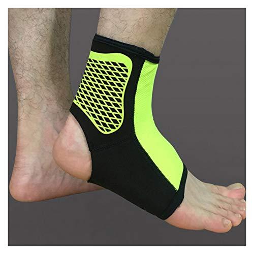 1 Paar Sportknöchelstütze Knöchel Pads elastischer Klammer-Schutz Fuß Knöchel-Schutz-Verpackung for Fahrrad-Fußball Taekwondo Basketball (Color : Fluorescent Green, Size : L)