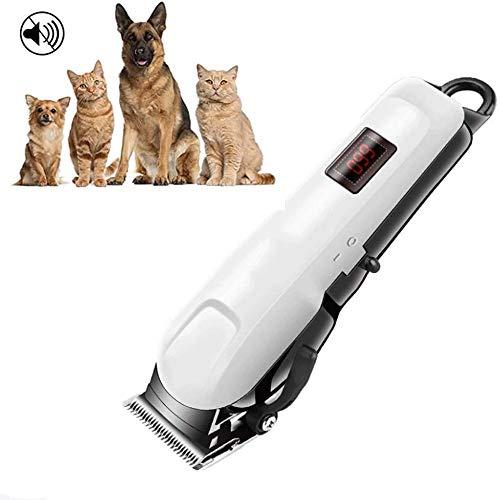 Tondeuse laag geluidsniveau proffessional voor hond kat, elektrische haren van huisdieren scheerapparaat met 4 guard kammen, draadloze oplaadbare haar Ceramic Blades trimmen, Scheren, Clipping
