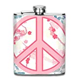 FGRYGF Frasco de Acero Inoxidable Red and Black Patterned Printed Stainless Steel Hip Flask For Drinking Liquor E.g. Whiskey, Rum, Scotch, Vodka Rust Great Gift