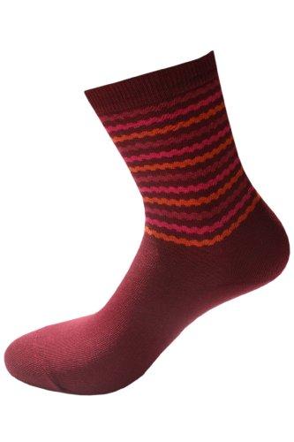 Weri Spezials Damen Socken in Bordo, Gr. 39-42. Ringel motiv Hoch im Trend!