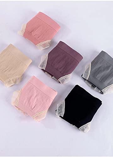 GYLMXF Bragas Algodón Embarazadas Altas Cintura Braguitas Slip Cómodo Tallas Grandes Absorbentes Pack de 6