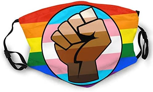LGBT Gay Trans Pride BLM Fist Flag Unisex Anti dust Reusable Face Mask for Black product image