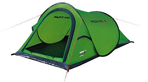 High Peak Wurfzelt Campo 2, Pop Up Zelt für 2 Personen, Festivalzelt mit Wannenboden, super leichtes Schnellöffnungs-Wurfzelt, 1500 mm wasserdicht, Ventilationsystem, Moskitoschutz