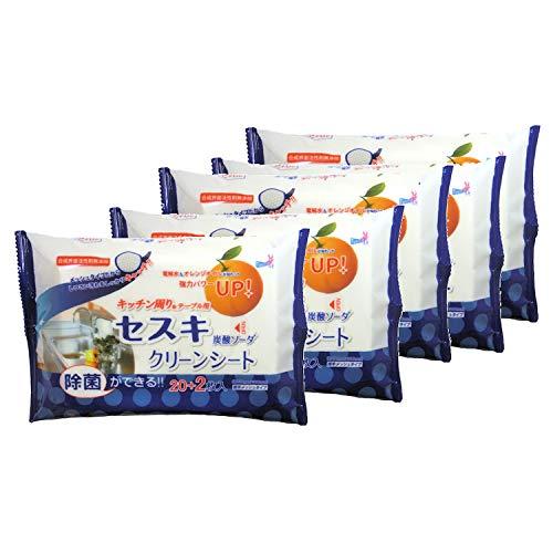 【まとめ買い】 セスキ炭酸ソーダクリーンシート キッチン用 22枚×5個