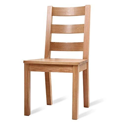 WSDSX Stuhl Retro Side Dining Office Lounge Chair Hoher Rücksitz Küchenrestaurant Esszimmerstuhl aus Massivholz Eichenstuhl Dinette Moderne Einfachheit Lagergewicht 200 kg 46,6 x 54,4 x 91 cm
