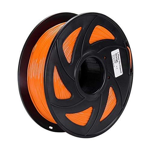 75mm Flexible TPU 3D Printer Filament 1KG/Spool 3D Printing Elastic Material Supplies for 3D Printer Accessories Red (Color : Orange)