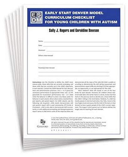 Early Start Denver Model Curriculum Checklist for Young Children with Autism