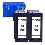 Ksera Reconditionné HP 56 Noir Cartouche d'encre HP56 Imprimante Cartouche 2-Pack (C6656A)...