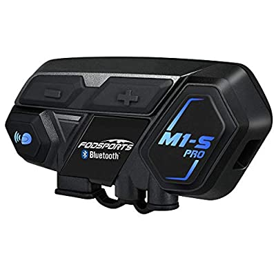 Motorcycle Bluetooth Intercom, Fodsports M1S Pro 2000m 8 Riders Group Motorbike Helmet Communication System Headset Universal Wireless Interphone (Waterproof/Handsfree/Stereo Music/GPS/2 Pack) from Fodsports