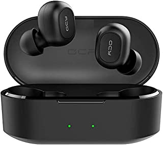 Xiaomi In1852 QCY T2C TWS BT5.0 Wireless Earphones with Dual Mircophone 3D Stereo Bluetooth Headphones For All Phones - Black (Pack of1)