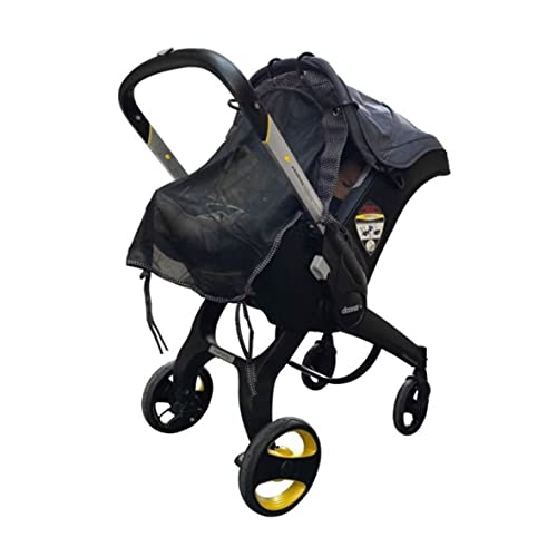 Sun Shade for Infant Car Seats and Strollers (Regular Size). Universal Adjustable Sunshade with See Through. Your Baby Will See...