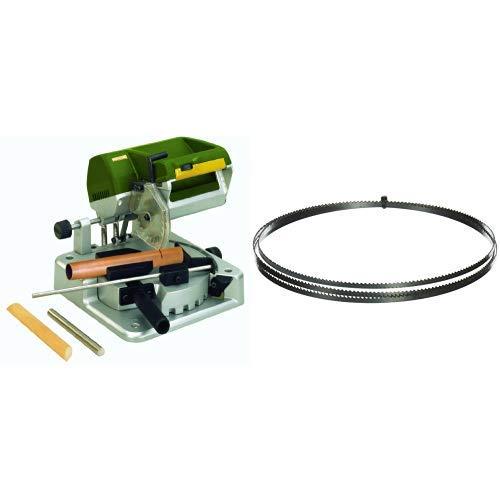 Proxxon 27160 Kapp- und Gehrungssäge KGS 80 + PROXXON 28174 Bandsägeblatt feinverzahn mit Feinverzahnung 24 Zähne / inch für Proxxon Bandsäge