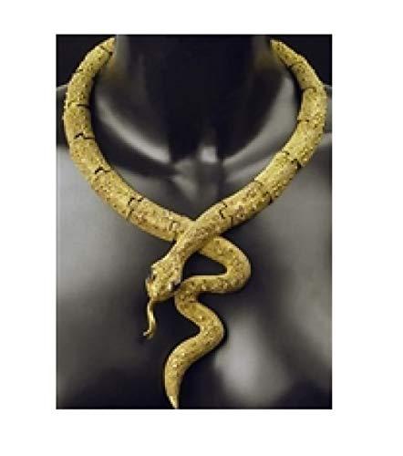 narrenkiste K83250190-A - Collar para mujer, diseo de cobra de faraones