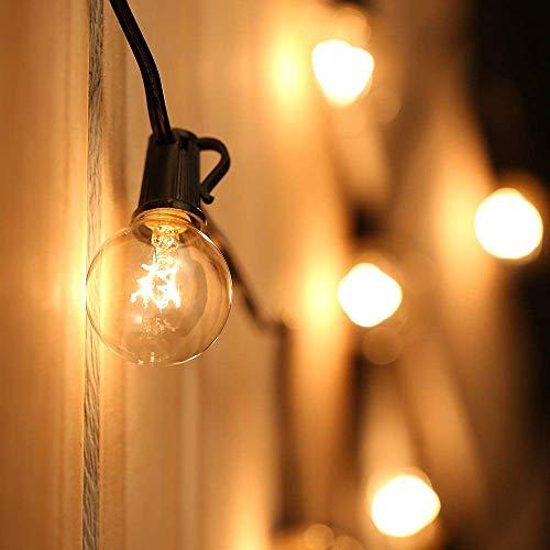 Catene Luminose,Tomshine Illuminazione Giardino Luci Stringa Lampadina con 25 G40 Bulbi [Classe di efficienza energetica A+]