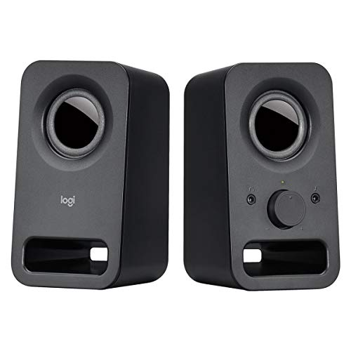 Logitech Z150BK PC Speaker, Black, Stereo, 2 Ch, Compact, Supports 0.1 inch (3.5 mm) Input, Authentic Product