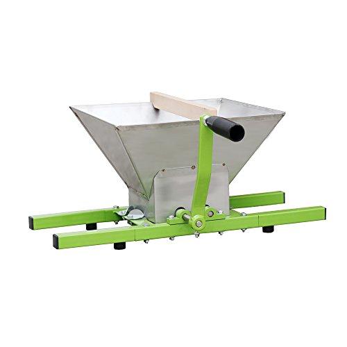 Hengda® 7 Liter Obstmühle Traubenmühle Beerenmühle Obstmuser Obsthäcksler Mühle Maischemühle mit Handkurbel Edelstahl