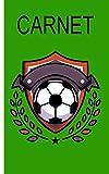 Carnet - motif soccer: Cahier avec motif football   damier   Taille 5 'x 8'...