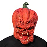 ifkoo Deluxe Novelty Halloween Latex Pumpkin Head Mask Creepy Scary Decorations