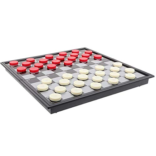 Magnetische dames Game Folding Tray Game Draagbare Dames Internationaal Dames Game Educatief Kerst vakantie Gift,A