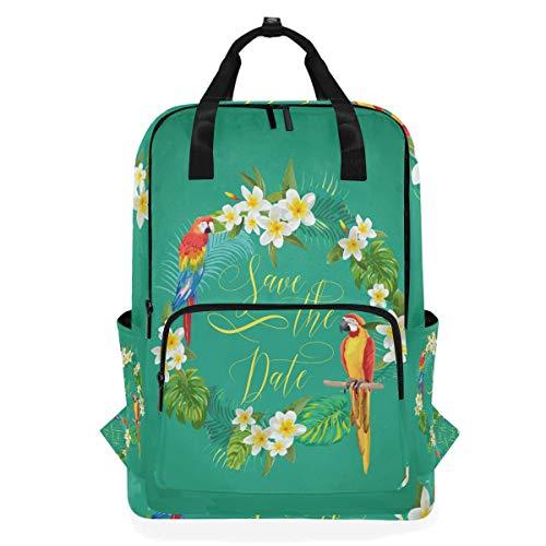 DEZIRO Parrots In Garland Casual Backpack Shoulder Bag