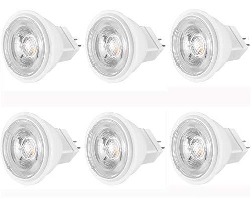 MR11 LED Warmweiß 4W Ersetzt 35W Halogenlampe, Warmweiss 2800K, 380LM, 38° Abstrahlwinkel, GU4 MR11 LED 12V DC/AC, Nicht Dimmbar, Flimmerfrei, Spotlight LED 6er-Pack Viaus