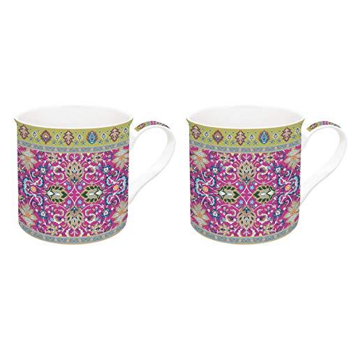 JD Diffusion 178PERP Art Around the World Coffret de 2 Mugs Multicolore