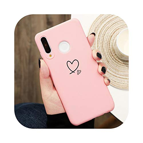 Gold Love Heart Case for Huawei P40 P30 P10 P20 for Honor 8X 9X 10i Mate 10 20 Lite Pro Y6 Y7 Y9 P Smart 2019 Z TPU Solid Color Capa-Kfe99-dxxin-P Smart 2019