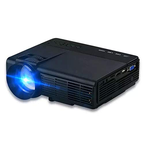 LG&S Mini Proyector Portátil Home Party Meeting Theater Full Color 1080P Video LED Proyector Compatible con HDMI, USB, SD con Control Remoto,Negro