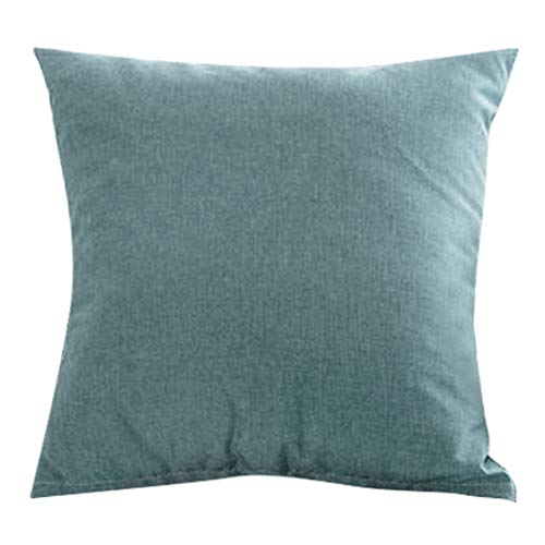 Hoseten Decoraciones para el hogar, Almohadas Funda de cojín Lino de algodón Estilo Minimalista Suave y cómodo para sofá Cama, Asientos, Piso, Bancos, etc.(Verde)