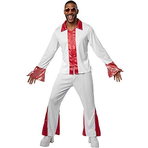 dressforfun 900470 - Herrenkostüm Disco Dancer, Langarmhemd mit Trompetenärmeln und Schlaghose (XL | Nr. 302153)