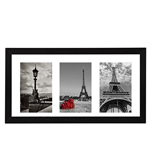 8x16 Black Wooden Picture Frame Photos Instagram Poster Frame and Three 4x6 Photo Frames with Mat Dining Features Frames Kitchen Tabletop Wall