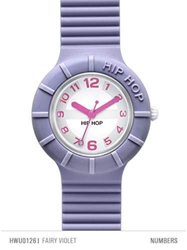 Hip Hop Watches - Orologio da Donna Fairy Violet HWU0126 - Collezione Numbers - Cinturino in Silicone - Impermeabile 5 ATM - Cassa 32mm - Lilla