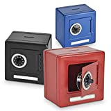 Kicko Combination Bank Moneybox - 1 Piece - Miniature Coin Safety Vault - for Party Favors, Office and School Supply, Decorative, Portable, Functional - Color May Vary - 5.25 X 3.75 X 5 Inches