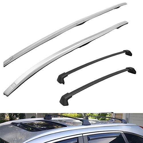 Tata.Meila 4 Pcs Roof Rack Side Rails & Cross Bars for Honda CRV CR-V 2012 2013 2014 2015 2016 OE Style Roof Rack Rails and Crossbars Luggage Carriers Kit