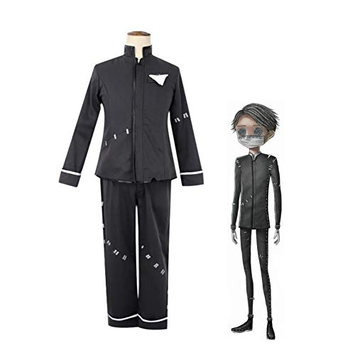 CGBF -Anime Game Identity V Esopo Carl Cosplay Disfraz de Comic Exhibition Theme Party Fancy Dress Uniforme para adultos, negro, L