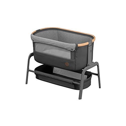 Maxi-Cosi Iora Cuna Colecho Regulable Multialturas, Reclinable con funcion de deslizamiento sencillo, Colchón incluido, Cuna bebé 0 meses - 9 kg, Gris (Essential Graphite)