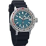 Vostok Amphibian cuerda automático para hombre reloj de pulsera militar Diver Anfibios funda reloj de pulsera # 420059 (resin)