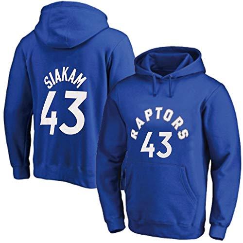LHYAN Las mujeres con capucha de baloncesto de los hombres de Pascal y Siakam # 43 Jersey de manga larga otoño invierno sudadera con capucha suelta baloncesto camiseta (Color : C, Size : XXXL)