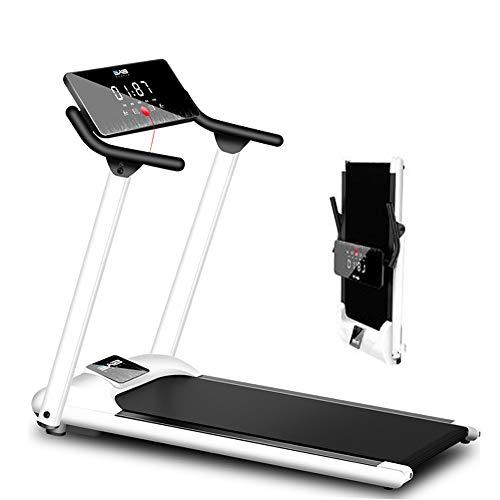 HSART Tapis Roulant Elettrico Pieghevole Portatile Macchina Da Jogging Con Base Larga, Display A LED, Bluetooth, Blocco Di Sicurezza Magnetico (Nero)