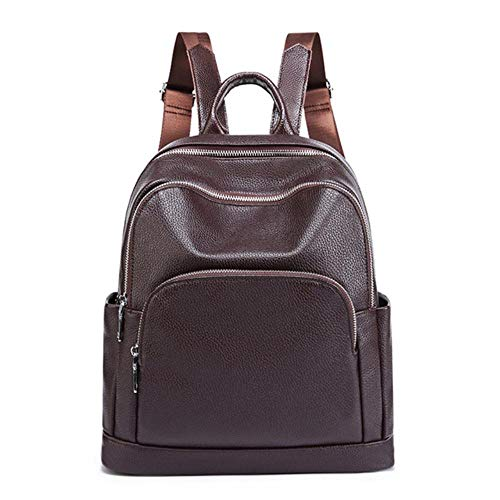 JNML Dames Rugzak-tas voor heren Teenage casual reistas Mini-laptop Schooltas-rugzak, bruin