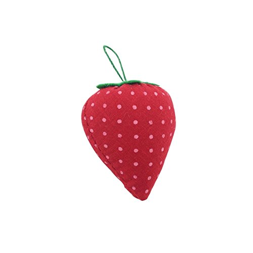 C-Pioneer 5pcs Cute Strawberry Pin Cushions Needle Holder Sewing Kit