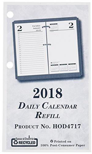 House of Doolittle 2018 Desk Calendar Refill, Daily, Economy, Fits #17 Base, 3.5 x 6 Inches, January - December (HOD4717-18)