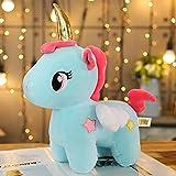 LDBJY Unicornio de Peluche de Juguete 40 cm Almohada para Dormir muñeca Animal de Peluche de Juguete Regalos de cumpleaños para niñas niños Kawaii 40 cm Azul