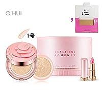 [オフィ/O HUI]ohui Ultimate Cover Moisture Rose Petal Cushion #01. 15g (Genuine) 1EA + 15g (Refill) 1EA/アルティメットカバーモイスチャーローズペタル1号+ [Sample Gift](海外直送品)