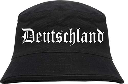 HB_Druck HB_Druck Deutschland Fischerhut - Bucket Hat - Altdeutsch - L/XL Schwarz