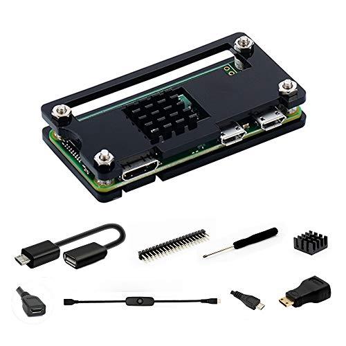 Raspberry Pi Zero W Case iUniker Raspberry Pi Zero Starter Kit per Raspberry Pi Zero W e Pi Zero 1.3 (acrilico nero)