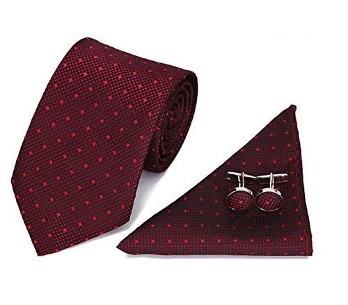 Ducomi Silk Cofanetto Coordinato Uomo con Cravatta, Gemelli e Fazzoletto da Taschino in Seta 100% - Disegnato in Italia e Cucito a Mano - Confezione Regalo Originale ed Elegante (Style)
