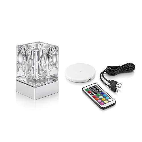 Auraglow wiederaufladbare kabelloses Farbwechsel & Weißlicht LED-Tischlampe (VASE)